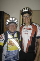 The legendary Ken Bonner kindly obliged this photo op for me. He is literally the Lance Armstrong of randonneuring. This was at the first overnignt control Naches. I believe he was stopping in for food and to get his brevet card signed, but not sleeping like most others.