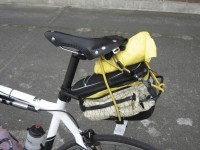 My bungy-corded bag (post crash fix).