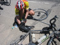 Quick change artist Mike Sturgill (he was fast, despite a double flat).