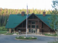 Visitor's center east of Cameron Pass.