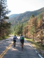 Descending Pourdre Canyon