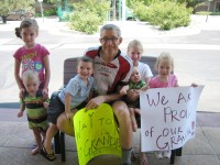 My grandchildren fan club which were waiting for me at the finish line!