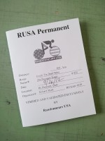 The official brevet card or record of the ride.