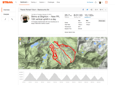 Strava Data Screen Shot