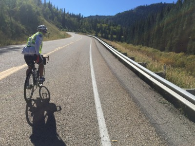 Approaching Wolf Creek Pass. It had a nice low-angle grade.