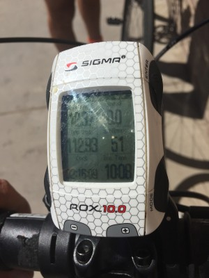 Duchense at 2:16 p.m.: 112 miles in, having climbing about 9,000 feet. Averaging only 12.37 MPH. 10 hours on the road.