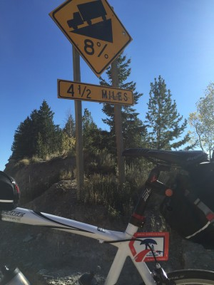 The descent down Indian Creek Pass. Climb number 3 done!