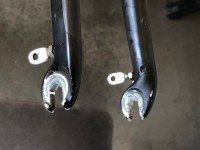 Shims added to front fork.